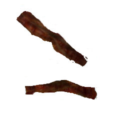Burnt bacon